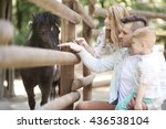 spending day with family at the ... | Shutterstock . vector #436538104