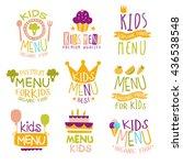 kids organic menu hand drawn...