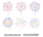 fireworks display celebration... | Shutterstock .eps vector #436550989