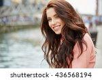 close up fashion woman portrait ... | Shutterstock . vector #436568194