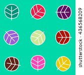 seamless leaf pattern  on green ... | Shutterstock . vector #436568209