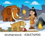 prehistoric theme image 3  ... | Shutterstock .eps vector #436576900