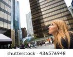 beautiful girl in vancouver city | Shutterstock . vector #436576948