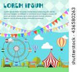 amusement park  ferris wheel ... | Shutterstock .eps vector #436580263