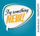 try something new retro speech...   Shutterstock .eps vector #436591474