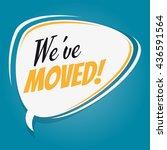 we've moved retro speech bubble | Shutterstock .eps vector #436591564