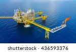offshore construction platform... | Shutterstock . vector #436593376
