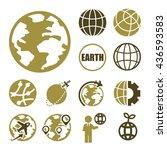 earth icon set | Shutterstock .eps vector #436593583