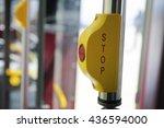 stop sign button | Shutterstock . vector #436594000