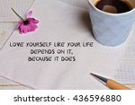 inspiration motivation quote... | Shutterstock . vector #436596880