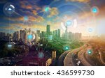 smart city and wireless... | Shutterstock . vector #436599730