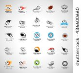 ball icons set   isolated on... | Shutterstock .eps vector #436600660