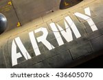 Army Marking On The Side Of...
