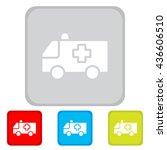 web icon. ambulance | Shutterstock .eps vector #436606510