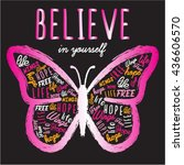 butterfly graphic for t shirt | Shutterstock .eps vector #436606570