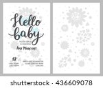 baby shower girl and boy... | Shutterstock .eps vector #436609078