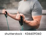 urban fitness man working out... | Shutterstock . vector #436609360