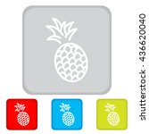 web line icon. pineapple | Shutterstock .eps vector #436620040