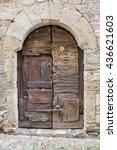 Antique Wooden Door In The...