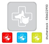 web line icon. veterinary... | Shutterstock .eps vector #436622950