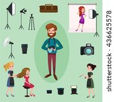 professional photographer ... | Shutterstock .eps vector #436625578