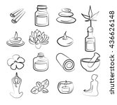 vector set of spa elements. | Shutterstock .eps vector #436626148