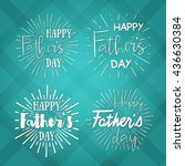 happy father's day calligraphic ... | Shutterstock .eps vector #436630384