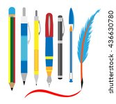 stationery and office use.... | Shutterstock .eps vector #436630780