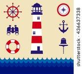 marine elements    Shutterstock .eps vector #436637338