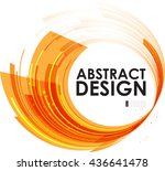 composition of orange circular... | Shutterstock .eps vector #436641478