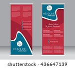 roll up banner stand template.... | Shutterstock .eps vector #436647139