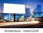 double exposure of blank... | Shutterstock . vector #436651354