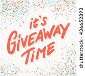 giveaway banner. | Shutterstock .eps vector #436652893