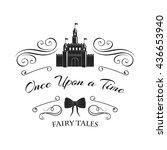 once upon a time  fairy tale. ... | Shutterstock .eps vector #436653940