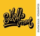 hello summer lettering vector | Shutterstock .eps vector #436664416