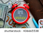 time to upgrade. sign on red... | Shutterstock . vector #436665538