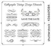 wedding invitation.  save the... | Shutterstock .eps vector #436669084