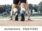 professional male runner taking ... | Shutterstock . vector #436674283