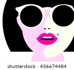 eye wear glasses woman closeup... | Shutterstock .eps vector #436674484