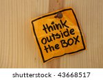 think outside the box   bright... | Shutterstock . vector #43668517