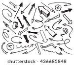black drawn arrows. vector... | Shutterstock .eps vector #436685848