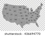 usa map with name of countries... | Shutterstock .eps vector #436694770