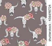 Skulls Of Animals And Flowers...