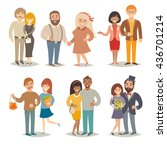 people and couples illustration ... | Shutterstock . vector #436701214
