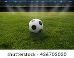 soccer field and soccer stadium ... | Shutterstock . vector #436703020