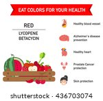 eat colors for your health red... | Shutterstock .eps vector #436703074