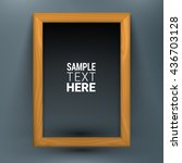realistic wooden picture frame... | Shutterstock .eps vector #436703128