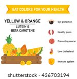 eat colors for your health... | Shutterstock .eps vector #436703194