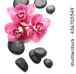 Spa Stones And Beautiful Pink...
