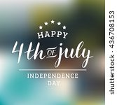 vector fourth of july greeting... | Shutterstock .eps vector #436708153